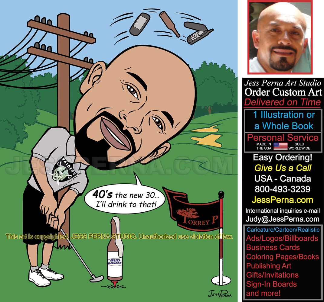Sports Caricature Gifts Ads Invitations Sign In Boards