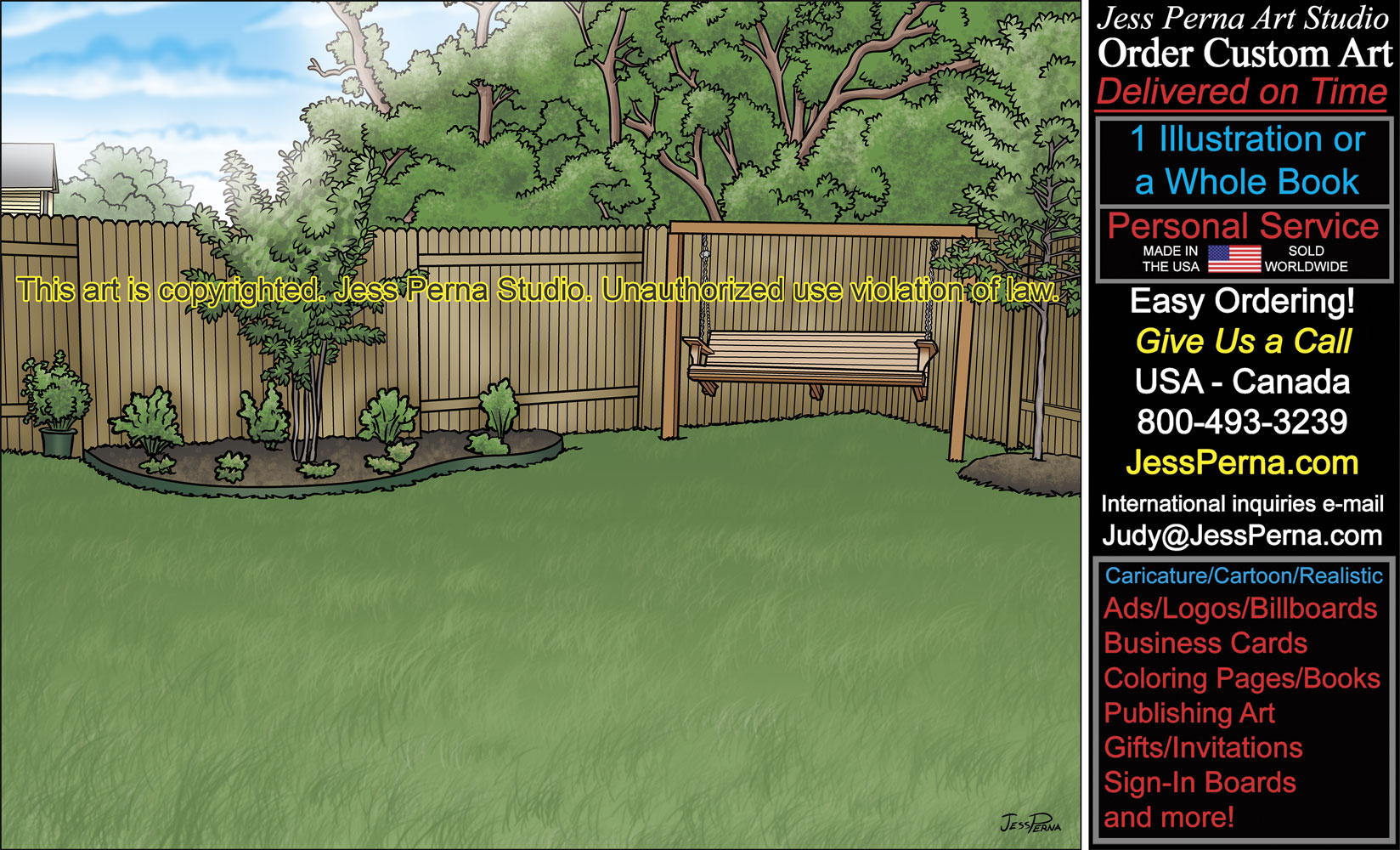 Landscape Illustration Vector Free: Order Landscape Advertising Artwork And Gifts Drawings