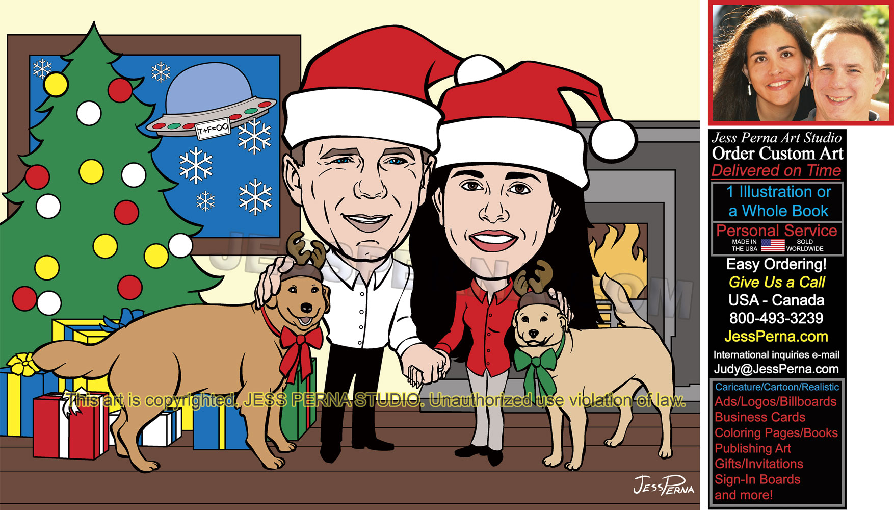 Caricature Christmas Cards