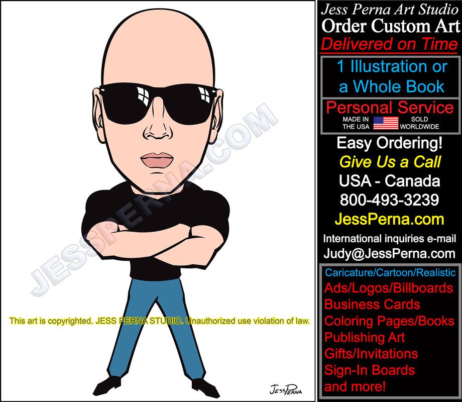order ad illustration caricatures cartoons website logos