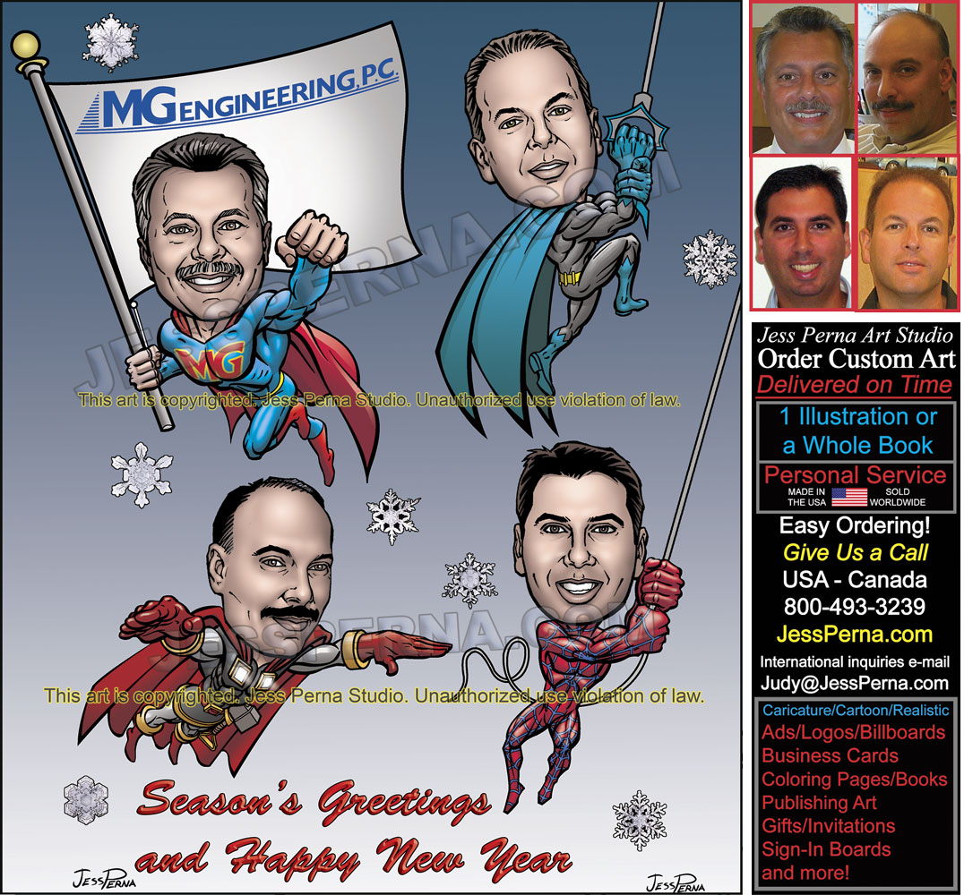 Order Superhero Caricatures, Comics Art, Cartoons Ads